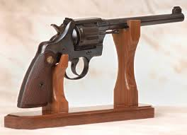 gun display stands for vertical presentation of rifles and revolver stand
