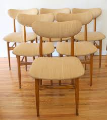 Mcm Set Of Upholstered Dining Chairs ...