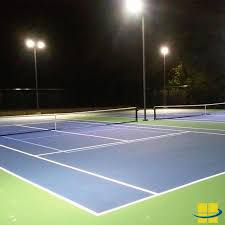 How Much Does It Cost To Light A Tennis Court Led Court Lights For Outdoor Tennis Court Lighting Large