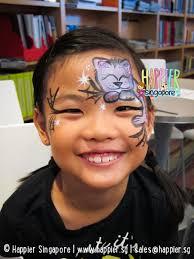 cat face painting happier singapore