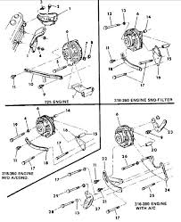 need a diagram for the front brackets on a 360 dodge ram a lot will depend on what alternator you have the 60a or the 100a here are the diagrams for both
