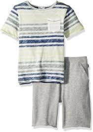 Splendid Little Boys Reverse Stripe Top Set White 4 5