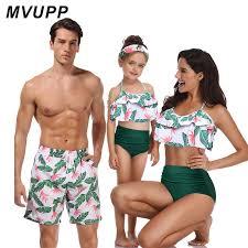 <b>family matching swimwear beachwear mommy</b> and me <b>swimsuit</b> ...