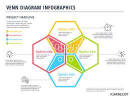 4 Circle Venn Diagram Template Venn Diagram With 4 Circles Infographics Template Design Vector