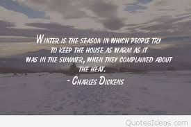 Charles Dickens Quotes Custom Warm Winter Quote By Charles Dickens