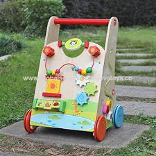 china 2016 new design push along activity center toy wooden toddler walker w16e061