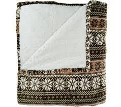 queen sherpa blanket. Wonderful Blanket Berkshire Blanket Queen Fair Isle Reverse To Sherpa  Page 1 U2014  QVCcom On D