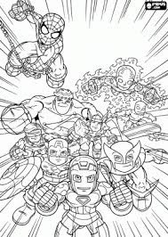 Small Picture Marvel Superhero Squad Coloring Pages Superhero Coloring Pages