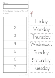 days of the week worksheet – streamclean.info