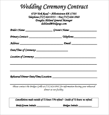 wedding planning contract templates wedding contract template 23 download free documents in pdf