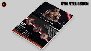 Gym Brochure Fitness GYM Brochure Design In Illustrator Cc 24GYM Flyer 9