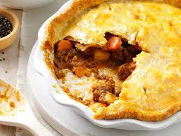 tasty meat pie recipe taste of home