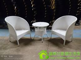 wrought iron wicker outdoor furniture white. the balcony chairs and tables white rattan chair threepiece tea table outdoor furniture wrought iron wicker