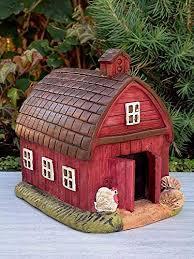 mini red farm barn house