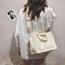 <b>Women</b> Canvas Tote Shopping Bag <b>Lady Shoulder Bag Big</b> ...