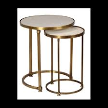 round marble nesting side tables