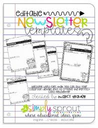 Back To School Weekly Newsletter Templates For Teachers