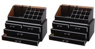 amazon vencer jewelry and makeup storage display bo 1 top 4 drawers cosmetic organizer 8 75
