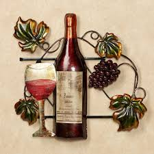 perfect wine bottle wall decor for wine bottle metal wall art images