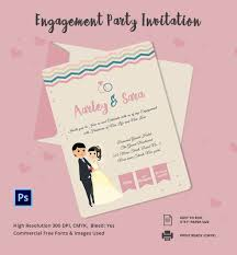 engagement invitation psd ai vector eps beautiful engagement party invitation template