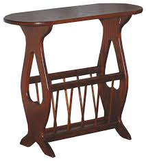 amish made oval top oak accent table with storage rack traditional side tables and end tables by furniture barn usa