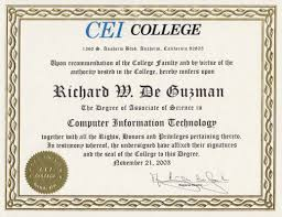 computer tech degree richarddeguzman com cei college associate of science degree