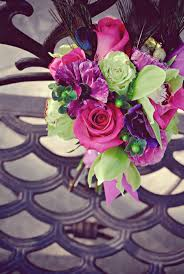 Purple and green wedding colors Wedding Inspiration Statement Bridal Bouquet Of Pink Roses Purple Flowers Green Orchids Imahdi Purple And Green Wedding Flower Ideas Flowers Healthy