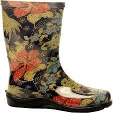 Sloggers Size 10 Womens Midsummer Black Tall Rain And Garden Boot