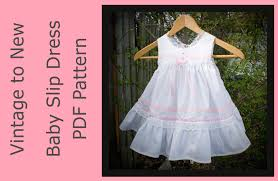 Free Baby Dress Patterns Best PDF Sewing Pattern Baby Slip Dress Vintage Look With Diaper Cover