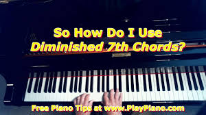 How To Use Diminished 7th Chords Piano Lessons For Adults