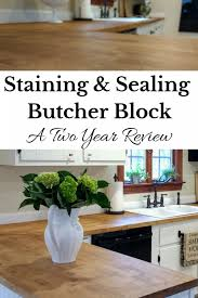 sealing butcher block countertops with dark tung oil a food safe stain for butcher block