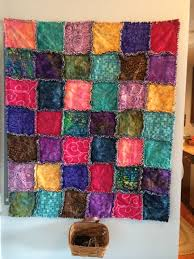 All-Cotton Batik Fabric Rag Quilt &  Adamdwight.com