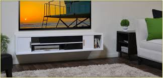 white media console furniture. White Wooden Floating Media Console With Doors And Racks On Wall Furniture O