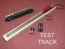 test track for 00 or ho gauge model railway analogue