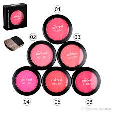 popfeel cosmetic blush makeup face powder blush cake plus pact face blusher with brush and pact mirror 6g 2802017 makeup makeup brush from