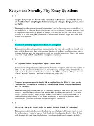everyman essay questions pdf allegory theatre