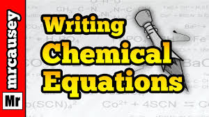 How To Write Chemical Equations