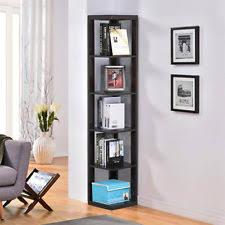 Mahogany finish home office corner shelf Desk Tier Bookcase Bookshelf Leaning Wall Corner Shelf Ladder Storage Display Ebay Contemporary Wall Shelves Ebay
