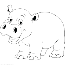 Hippopotamus Coloring Pages Coloring Pages Hippo Baby Hippo Coloring