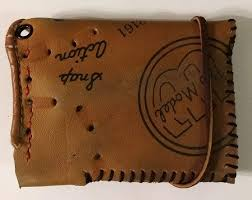 one of a kind wilson baseball glove credit card case wallet by lucky savage claimed