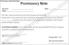 Promissory Note Templates Word Best Photos Of Note Promissory Sample Microsoft Word