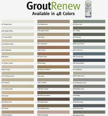Polyblend Grout Renew Color Chart Grout Renew Polyblend