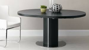 black ash round extending dining table pedestal base wood
