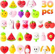 WATINC Random 30Pcs Mochi Squeeze Toys Set for Kids, Kawaii ...