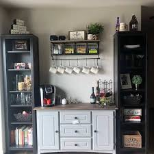 Can be used as a coffee bar or liquor bar. 42 Adorable Coffee Station Ideas For A Blissful Coffee Time