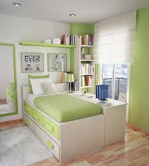 Small Beautiful Bedrooms Bedroom Beautiful Green Wooden Wall Mounted Bookshelf Also Green