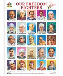 Telangana Freedom Fighters Chart Tricolor Books Our Freedom Fighters Big Chart English