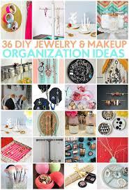9 30 36 diy jewelry and makeup organization ideas