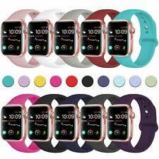 Apple <b>Silicone Sport</b> Wristwatch <b>Straps for</b> sale | eBay