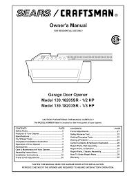 sears craftsman garage door opener 41a4315 7c manual home desain